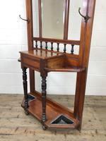 Antique Edwardian Mirror Back Hall Stand (7 of 10)