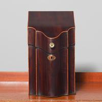 George III Inlaid Mahogany Knife Box (2 of 9)