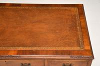 Antique Burr Walnut Leather Top Desk (10 of 10)