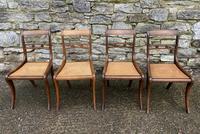 Set of 4 Regency Rosewood Sabre Leg Dining Chairs (2 of 15)