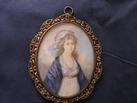 Regency Miniature Portrait Gold Initials to the back (4 of 4)