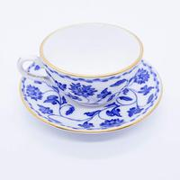 Blue and White Spode Miniature Cup and Saucer (2 of 5)
