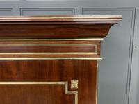 Early 19th Century Brass Mounted Flame Mahogany Linen Press (11 of 21)
