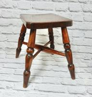 Small Elm Country Stool (6 of 6)