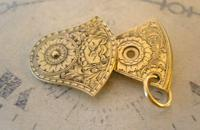 Antique Pocket Watch Chain Fob 1890s Victorian Balance Cock Old Father Time Fob (3 of 7)