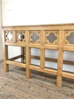 Victorian Pine Church Altar Table in Gothic Design (6 of 14)