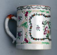 Fine & Unusual Chinese Famille Rose Export Porcelain Tankard 18th Century (5 of 9)