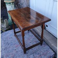 Queen Anne Walnut & Oak Side Table (3 of 6)