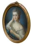 Oval Portrait of a Young Lady