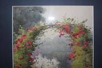 Antique Original Watercolour - Rose Arch - Mary Sophia Godlee '1860-1932' (4 of 5)