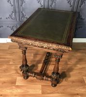 Victorian Carved Oak Library Table (15 of 25)