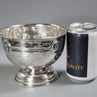 Rare Arts & Crafts Liberty & Co HM Silver & Enamel Cymric Bowl c.1905- Signed (3 of 14)