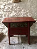 Chinese Altar Table, Painted with Fish & Fauna (2 of 12)