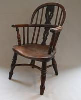 Yew & Ash Wood Child's Windsor Chair (2 of 5)