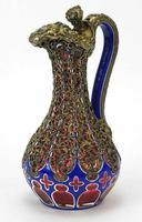 Good Biedermeier Bohemian Overlaid Glass Ewer (2 of 6)