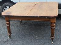 1900's Country Pine Pull out Table with One Leaf (3 of 5)