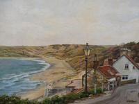 Oil on Canvas Cornish Seascape Artist M M Tomlinson (6 of 10)