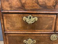 George I Style Burr Walnut Bureau (16 of 18)