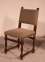 Set Of 10 Louis XIII Style Chairs In Walnut (3 of 11)