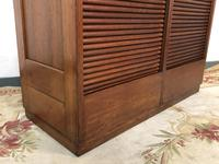 """Vintage Mid Century Double French Filing Cabinet Tambour Roller Shutter """"Radia"""" (3 of 12)"""