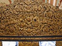 Antique French Cushion Mirror Metal Mounts Circa 1880 (2 of 11)