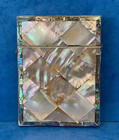Victorian Abalone & Mother of Pearl Card Case (2 of 16)