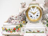 Original Meissen Porcelain Mantel Clock Figural Striking 8-Day Mantle Clock c.1860 (5 of 6)