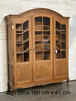 French 3 Door Oak Bookcase or Cabinet (14 of 15)