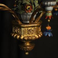 Florentine 6 Light Polychrome Antique Chandelier (7 of 10)