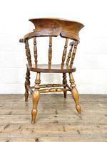 Antique Beech & Elm Smoker's Bow Chair (8 of 8)
