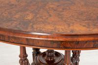Pretty Victorian Burr Walnut Centre Table (5 of 9)
