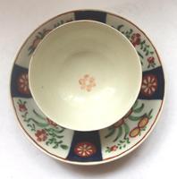 A Porcelain 1st Period Worcester Queen's Imari Tea Bowl & Saucer C.1770 (4 of 7)
