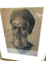 Charcoal Painting Of Man In Turban, Signed And Framed (6 of 9)