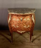 Small French Louis XVI Style Bombe Commode (11 of 12)
