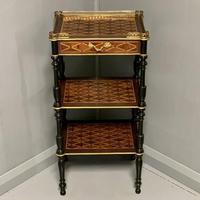 French Geometric Marquetry Etagere Side Table (3 of 3)