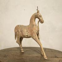 Large 19th Century Carved Indian Horse - Original Paint (13 of 14)