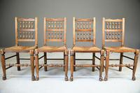 4 Country Spindle Back & Rush Chairs (3 of 11)