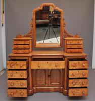 19th Century Satin Birch Dressing Table (3 of 14)