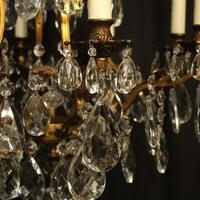 French Gilded Bronze & Crystal Chandelier (9 of 10)
