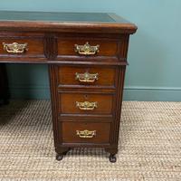 Stunning Victorian Maple & Co Antique Oak Pedestal Desk (5 of 7)