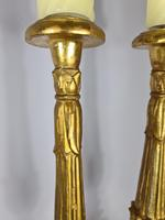 Handsome Pair of 18th Century Giltwood Alter Sticks (4 of 4)