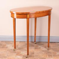 Inlaid Oval Satinwood Occasional Table (5 of 15)