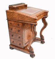 Victorian Davenport Desk Walnut Inlay c.1860 (11 of 14)