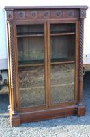 1900's Aescetic style Oak 2 Door Bookcase