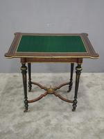 Louis XV Style French Marquetry Games / Side Table (12 of 15)