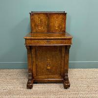 Spectacular Quality Victorian Figured Walnut Antique Davenport (4 of 9)