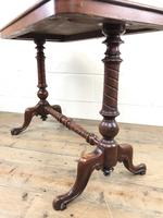 Victorian Mahogany Occasional Table with Stretcher (9 of 10)