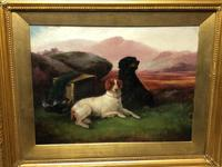 "Victorian Oil Painting Hunting ""Game Dogs"" Signed Robert Cleminson (9 of 29)"
