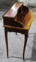 1900s Quality Ladies Mahogany Desk with Kingswood Banding (2 of 4)