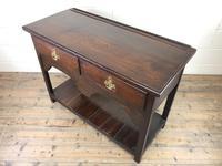 Antique Early 20th Century Oak Pot Board Dresser Base (7 of 9)